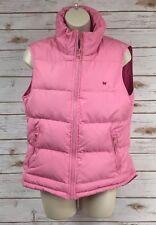 AEROPOSTALE Pretty Pink Zipper Down Puffer Hi-Lo Vest Jacket w/Media Pockets M/L