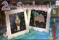 Arrow 2 Early American Stitchery Kits 452 W/philippine Mahogany Wood Frames