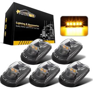 5pc Clear Lens Amber Led Cab Roof Lights For 2017 2019