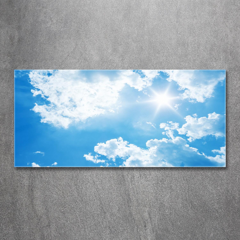 Glas-Bild Wandbilder Druck auf Glas 120x60 Deko Landschaften Wolken Himmel