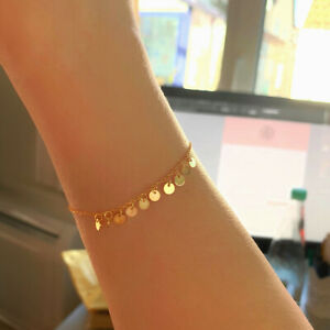 Armband-039-Candy-039-925-Sterling-Silber-Echtsilber-in-Gold
