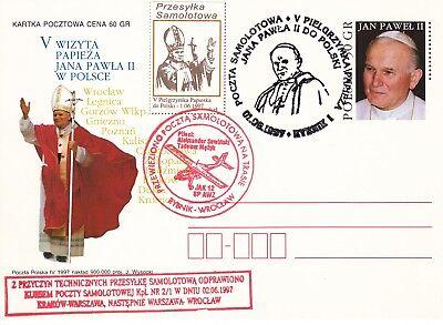 """Pc.polen Postkarte """" Johannes Paul Ii.papst """" Gest. Hell In Farbe przesylka Samolotowa 1277"""
