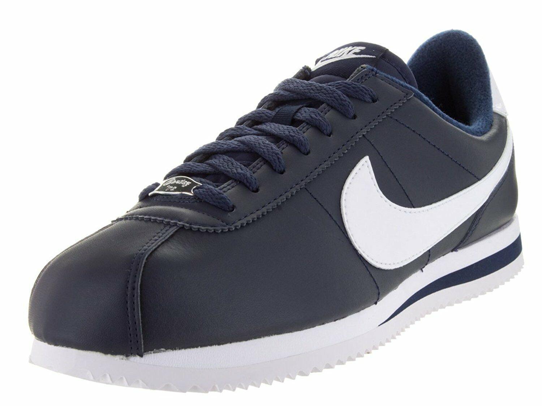 Nike Nike Nike Cortez Basic Leather Obsidian White-Metallic Silver (819719 410) 154b77