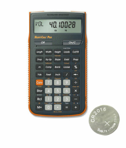 Calculated HeavyCalc Pro Calculator 4325 w//Armadillo Case /& Spare Battery