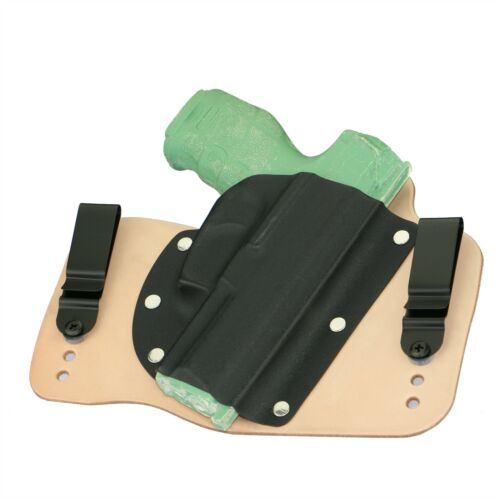 FoxX Leather /& Kydex IWB Hybrid Holster Heckler /& Koch H/&K VP9 Right Natural//Tan