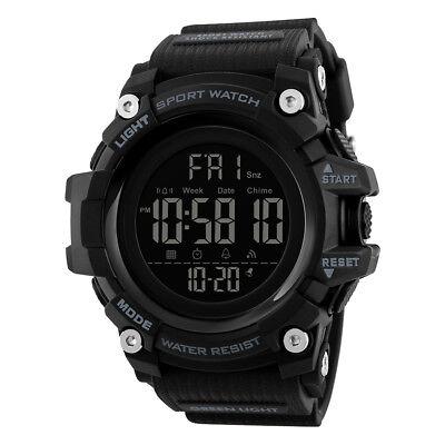 Smart Watch Pedometer Calories Chronograph Sports Watches 50M Waterproof CR2032