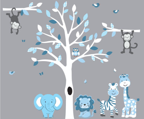 Lion Wall Art Jungle Tree Decal Jungle Animal Wall Decal Animal Wall Stickers