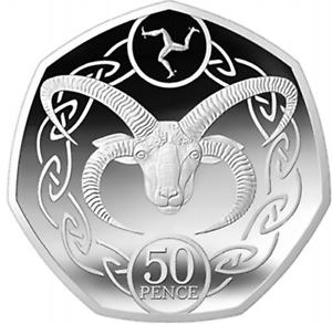 Uncirculated-Isle-Of-Man-IOM-Manx-Loaghtan-Sheep-Ram-Goat-50p-50-Pence-Coin-2019