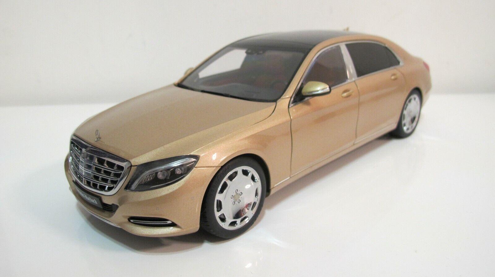 diseño único 1 18 Autoart Mercedes Benz Benz Benz Maybach S KLASSE S600 W222 oro DIECAST COCHES  ¡no ser extrañado!