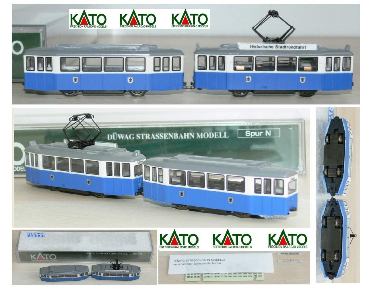 KATO 14610 DOUBLE TRAM URBANI MOTORIZED DÜWAG DÜWAG DÜWAG Straßenbahn AZUR in the OVP 45c9b4