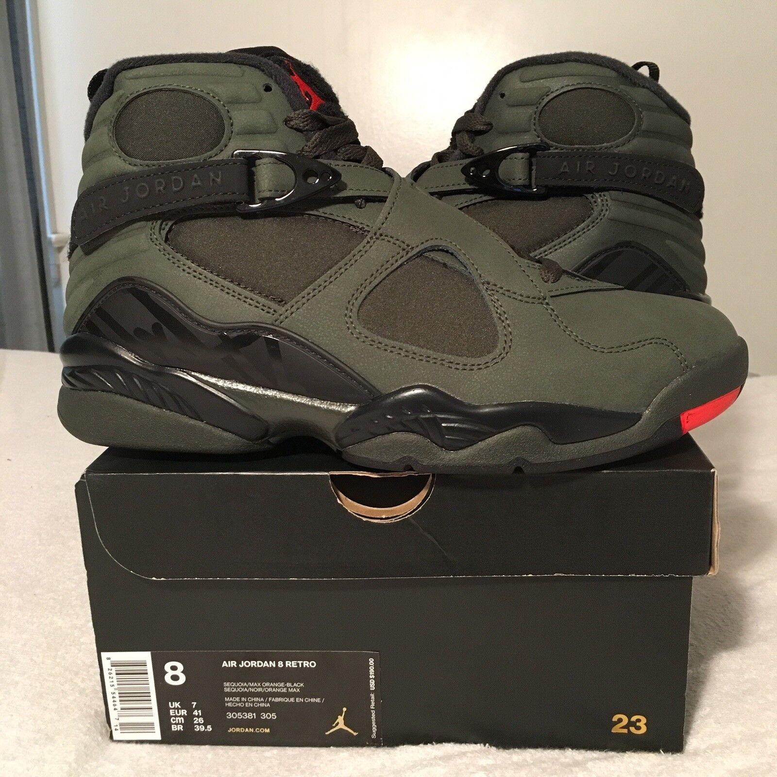 Nike Air Jordan 8 VIII Retro Take Flight Sequoia Size 8 Deadstock