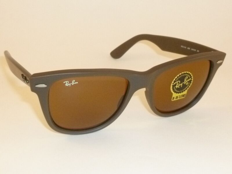 0163e2bbcb237b Ray Ban RB 2140 Original Wayfarer 889 Matte Brown Sunglasses Brown Lens  54mm   eBay