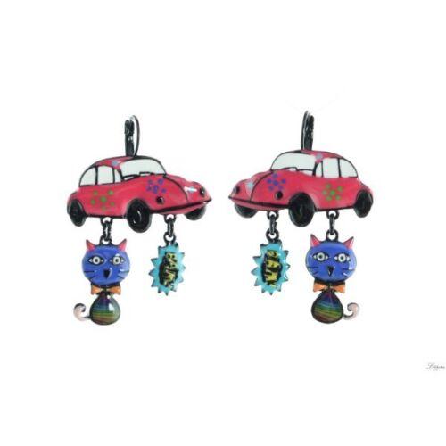 Chat Coccinelle Cox Boucles d/'Oreilles Pop Art Lol bijoux Rose