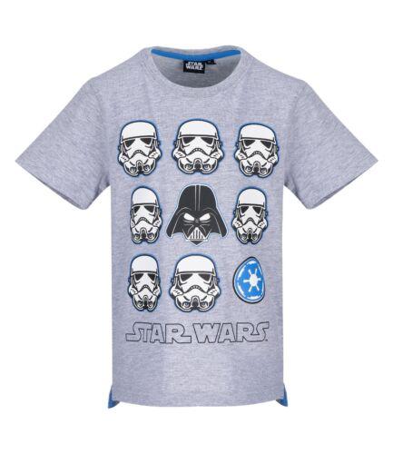 Ragazzi Bambini Teenager Star Wars maglietta manica corta T Shirt Top Età 6-12 anni