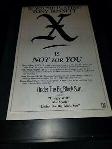 X-Under-The-Big-Black-Sun-Rare-Original-Radio-Promo-Poster-Ad-Framed