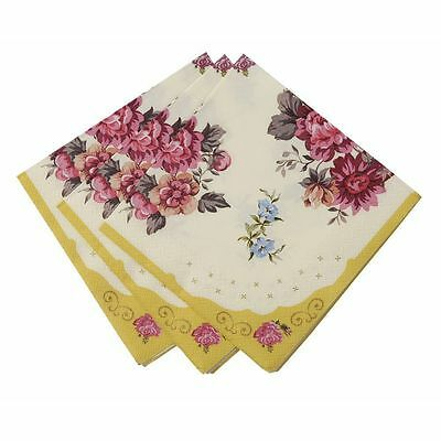TRULY SCRUMPTIOUS Paper Napkins Vintage Shabby Chic Weddign Tea Party