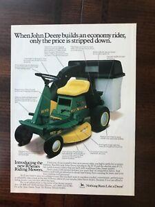1984 vintage original print ad John Deere R70 Riding Lawn Mowers