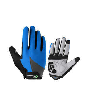 RockBros Spring & Autumn Full Finger Cycling Sporting Touch Screen Gloves Blue