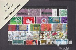 Schweiz-gestempelt-1982-kompletter-Jahrgang-in-sauberer-Erhaltung