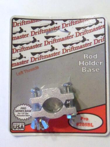 "Rod Holder Round Rail Clamp Base 1//2/"" Thread for 1/"" Rail L Thr Driftmaster 205BL"
