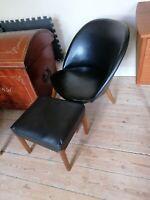 Lænestol, andet, Grydestol i sort skai med