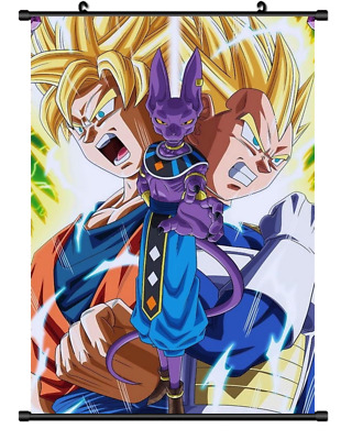 "Hot Japan Anime Dragon Ball Z Goku Home Decor Poster Wall Scroll 8/""x12/"" FL944"