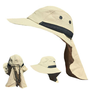 Visor-Sun-Hats-Caps-Long-Flap-Neck-Cover-Bucket-Boonie-Fishing-Golf-Beach-Summer