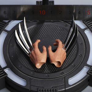"""1//6 Wolverine Metal Claw Hands For 12/"""" Hot Toys PHICEN Logan Muscular Figure USA"""