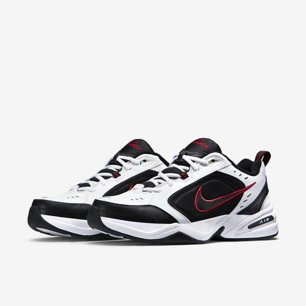 Nike air monarch IV white black and red shoes