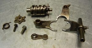 Honda-XR600R-XR600-R-XR-600-86-1986-Transmission-Shift-Drum-Star-Forks-Shaft