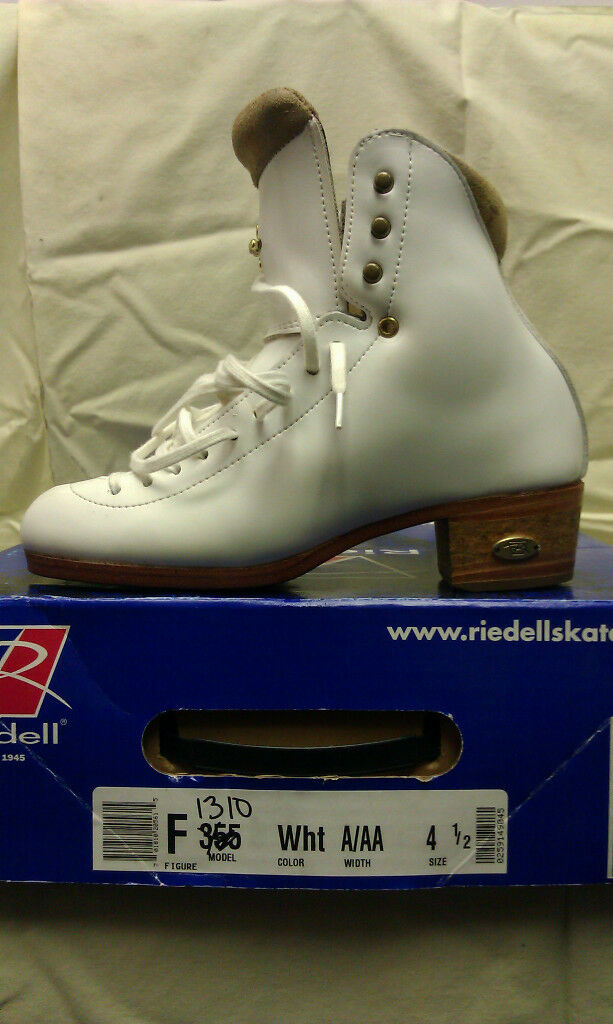 Riedell Model 1310-Women's Figure Skating Boot Size 4 1 2  A AA  save 35% - 70% off