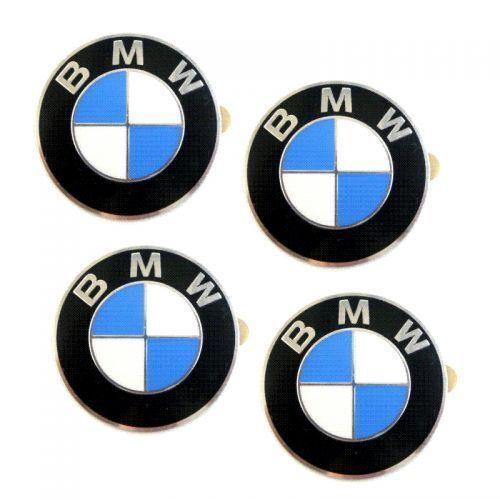 Genuine 4x BMW Wheel Hub Cover Logo Emblem//Sticker//Badge Ø 2 3//4in