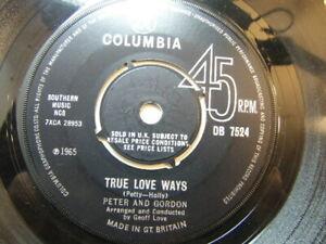 "Peter and Gordon – True Love Ways 1965 7"" Columbia DB 7524"