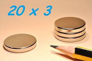 20-MAGNETI-NEODIMIO-20X3-MM-CALAMITA-POTENTE-FIMO-CERAMICA-MAGNETE-CALAMITE