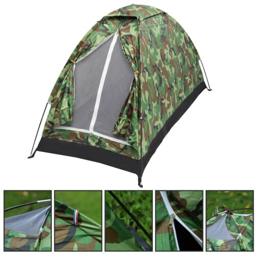 1 Person Instant Up Camping Tent Waterproof Outdoor Hiking Travel Bag Camouflag