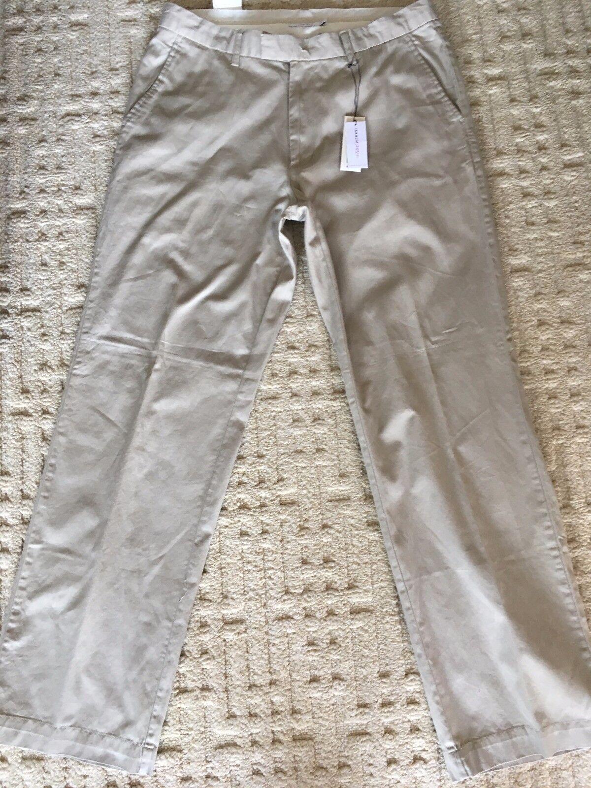 c808d6ba7df663 Isaac Mizrahi Beige Tan Khaki Men s Pants Size 36 x 34 Trousers New with  tags
