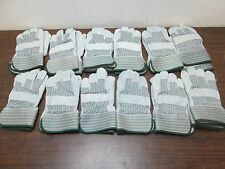 New Lot Of 12 Sets Of 1260 Leather Palm Safety Cuff Gloves Free Shipping
