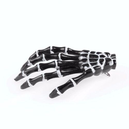 Skelett Klaue Schädel Hand Haarspange Haarnadel Zombie Bobby Pin Haarspange Punk