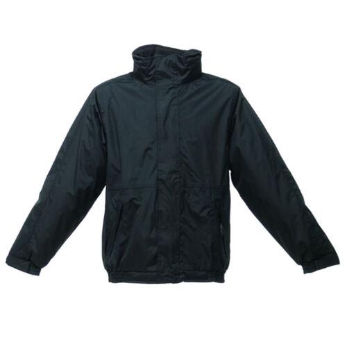Regatta Mens Waterproof Breathable Dover Plus Bomber Working Jacket Hoodie Black
