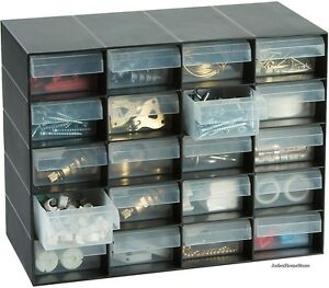 Garland Hobby Small parts storage cabinet organizer box with 20 ...