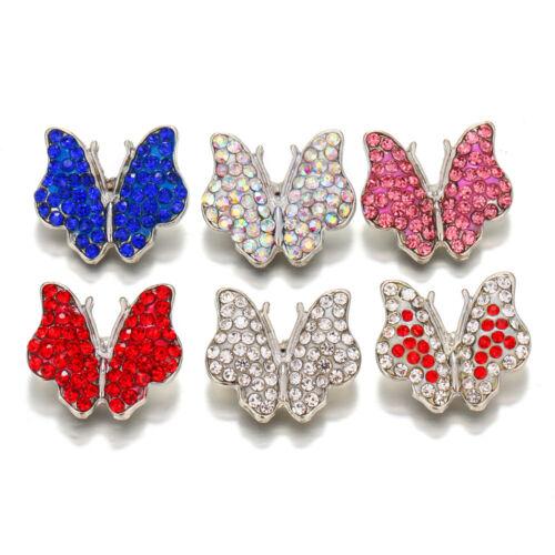 10pcs Cristal Alliage Charme Ginger Snap Bouton pour Noosa Collier//Bracelet N747