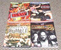Wrestlemania, Ecw Hardcore, Wwf Royal Rumble & Raw Strategy Guides Nintendo Xbox
