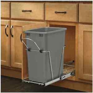 35 quart trash can under sink sliding storage organizer kitchen rack cabinet. Black Bedroom Furniture Sets. Home Design Ideas