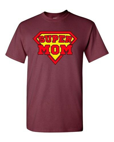 Super Mom Superhero Supermom Hero Funny Mother/'s Day Gift DT Adult T-Shirt Tee