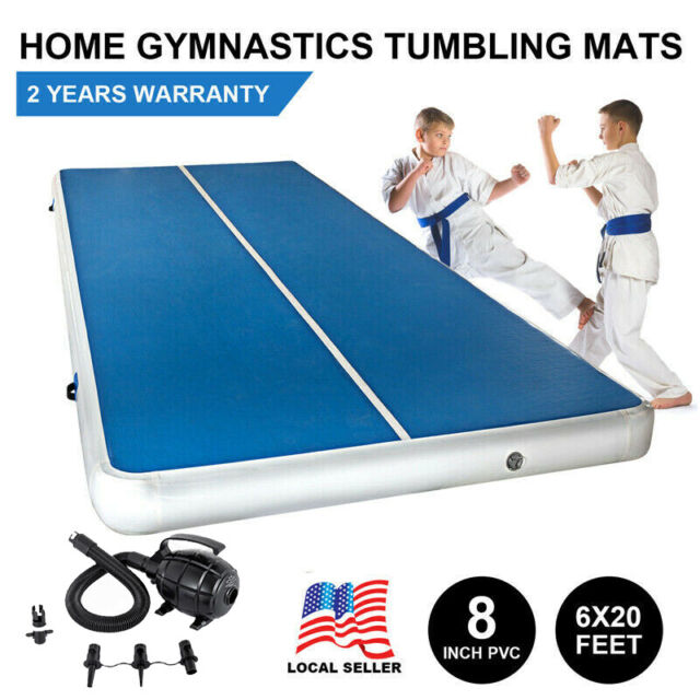 20x6ft Air Track Floor Home Gymnastics Tumbling Mat Inflatable Training Gym Us A