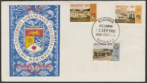 (F89)MALAYSIA 1980 NATIONAL UNIVERSITY OF MALAYA FDC KUCHING SARAWAK FDI CDS