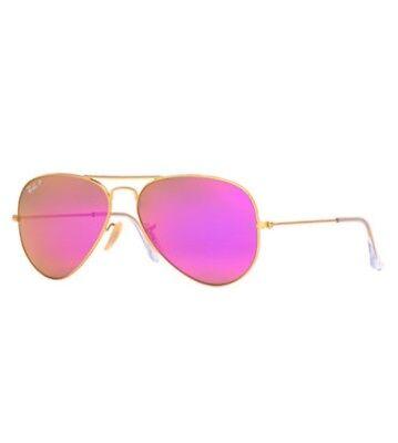 ray ban aviator gold frame pink mirror lens