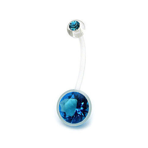 4 Colors Piercing navel belly crystal pregnant woman biolfex