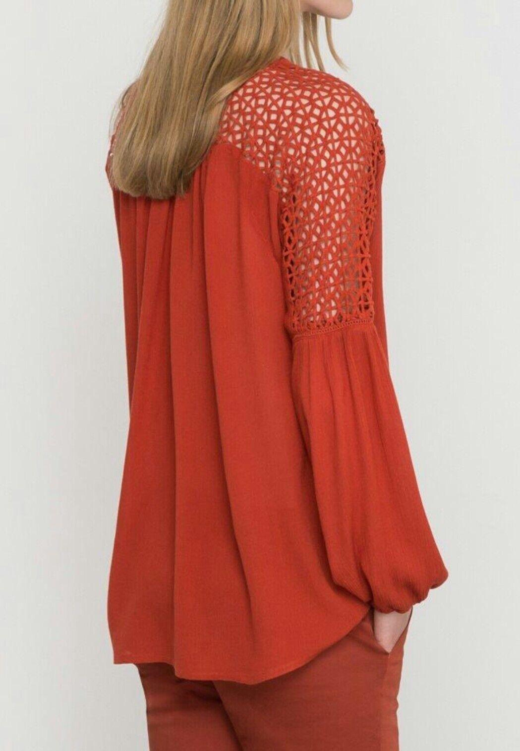 Brand New Vila Vijannie Blouse with Lace Shoulders Size M