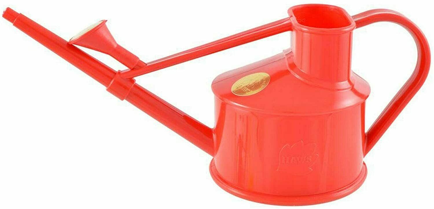 0.7L Haws Handy Indoor House Plant Plastic Watering Can Fine Spray Rose Red